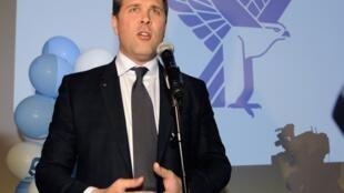 Bjarni Benediktsson, leader du Parti de l'indépendance, le 28 avril 2013 à Reykjavik.