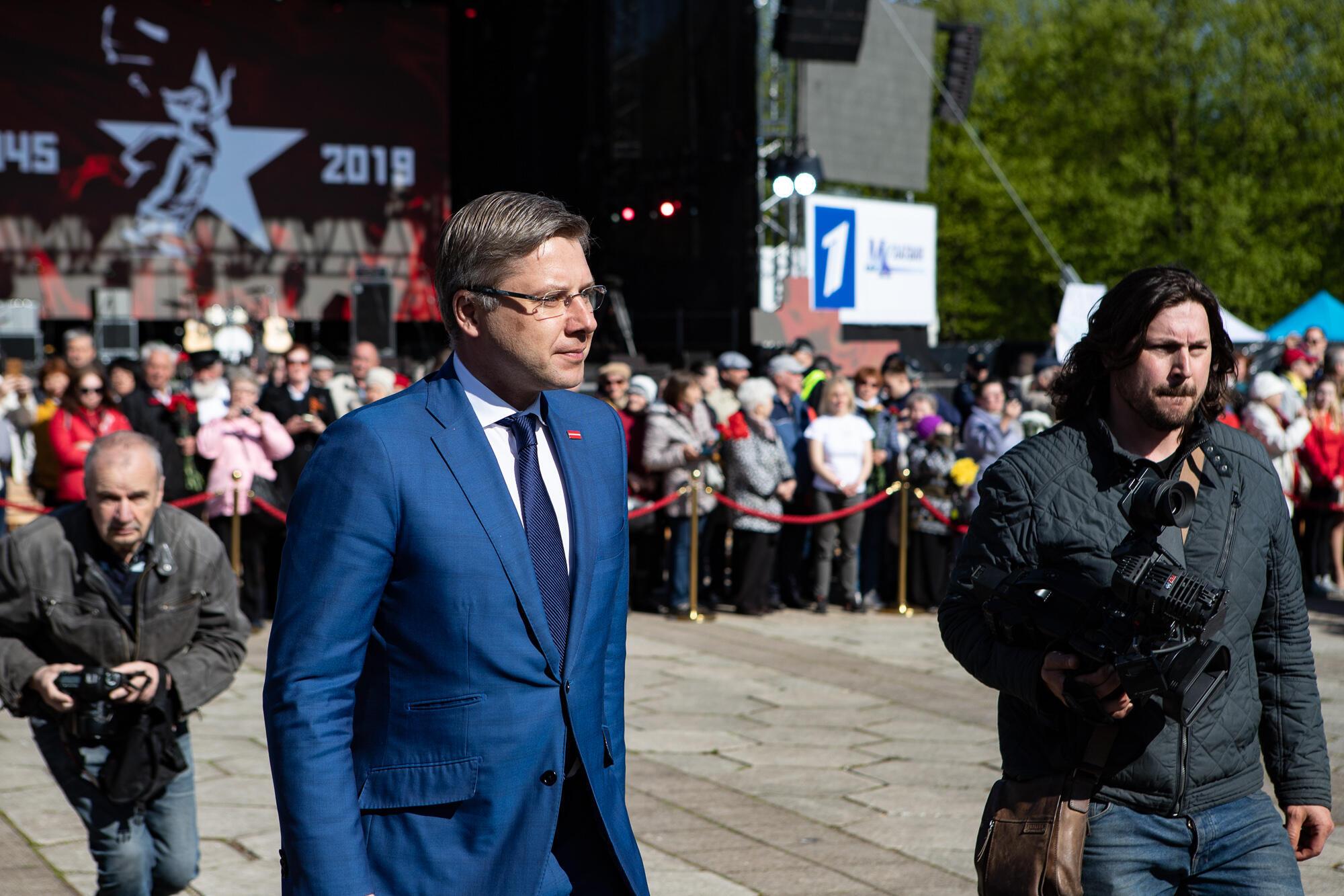 Нил Ушаков на праздновании Дня Победы в Риге 9 мая 2019 г.