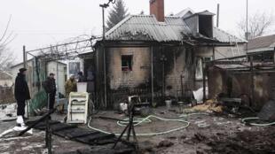 Ucrânia alega ter sido alvo de ataques de tropas russas. Na foto a cidade de Sartan, perto de Mariupol. 20/01/15
