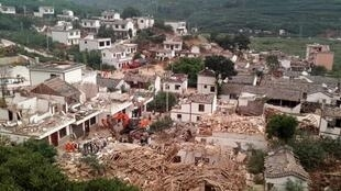 云南省鲁甸县地震后2014年8月3日。