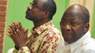 Vinara wa jaribio la mapinduzi Burkina Faso mwaka 2015, Jenerali Gilbert Diendéré (kushoto) na Djibrill Bassolé.