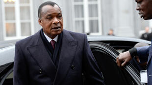 Congo's President Denis-Sassou Nguesso in Brussels in March