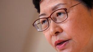 香港特首林郑月娥在记者会 2019 8 27