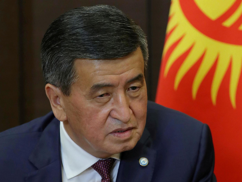 Sooronbay Jeenbekov, président du Kirghizistan, le 28 septembre 2020.