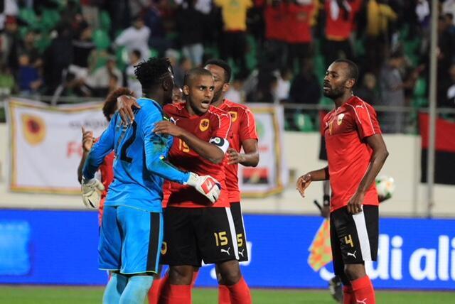 Angola/Camarões em Agadir, Marrocos, a 20 de Janeiro de 2018.