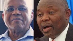 Etienne Tshisekedi (kushoto) pamoja na Vital Kamerhé (kulia), viongozi wawili wa upinzani nchini Jamhuri ya Kidemokrasia ya Congo.