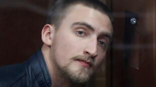 Павел Устинов в зале Тверского суда Москвы, 16 сентября 2019.