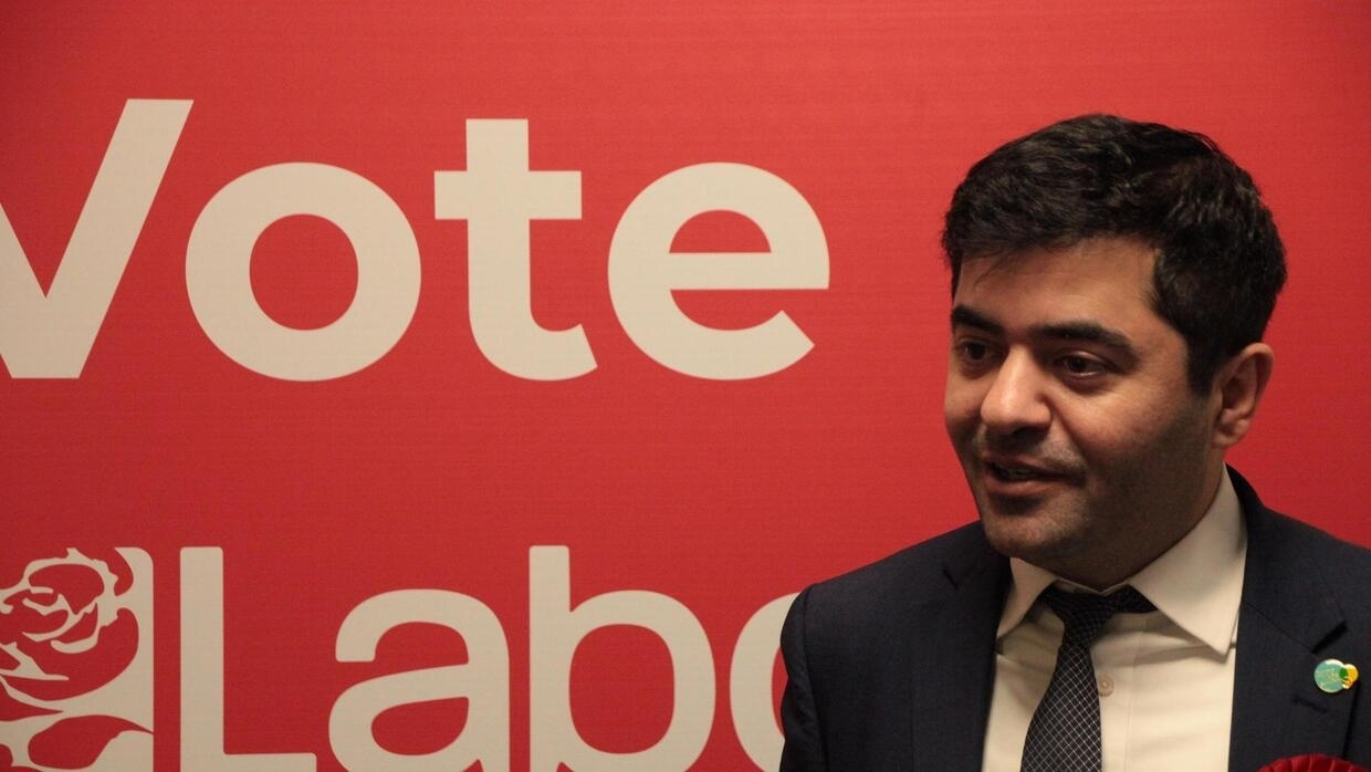 Ibrahim Dogus Labour MP for West Bromwich East in his office on December 10, 2019, two days before parliamentary elections