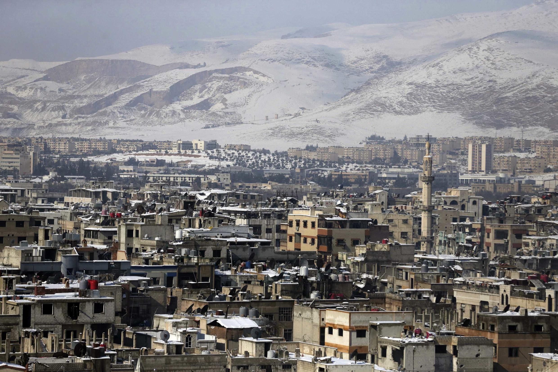 Mji wa Duma, karibu na mji mkuu wa Syria Damascus, Januari 11, 2015.