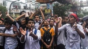 Zanga-zangar daliban kasar Bangladesh
