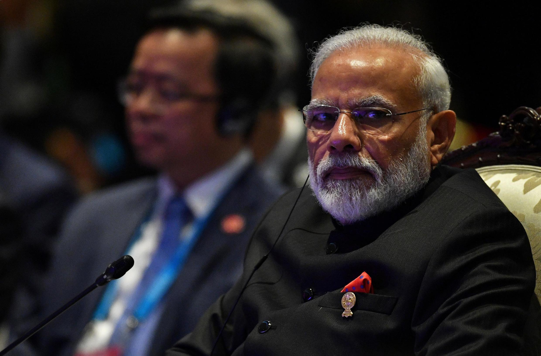 Le Premier ministre indien Narendra Modi (ici au sommet de l'Asean à Bangkok le 4 novembre 2019).