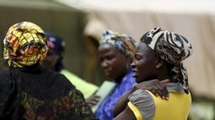 Mujeres que fueron secuestradas por Boko Haram, en el campo de Malkohi, el 3 de mayo de 2015.