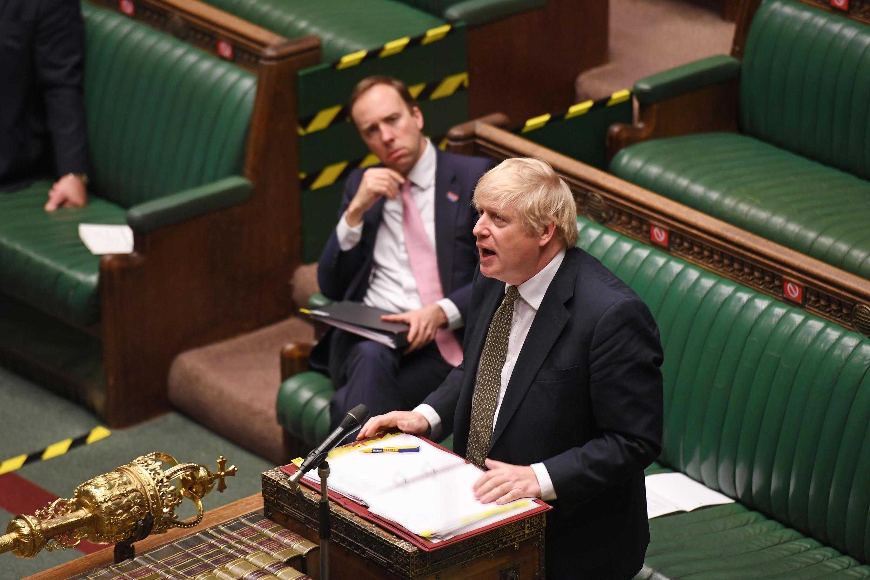 Thủ tướng Anh, Boris Johnson trong phiên điều trần trước Nghị Viện ngày 06/05/2020.