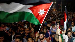 Protesto em Amã, Jordânia, gerada pelas propostas de reformas do governo. 04/06/18.