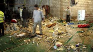 Sashin Masallacin da aka kaiwa harin bam a birnin Shiraz dake kudancin kasar Iran. 12/4/2008