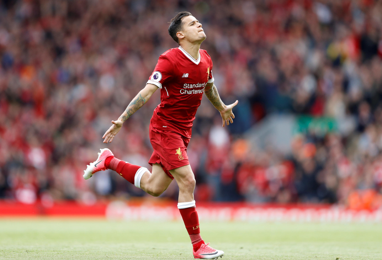 Philippe Coutinho na kungiyar Liverpool.