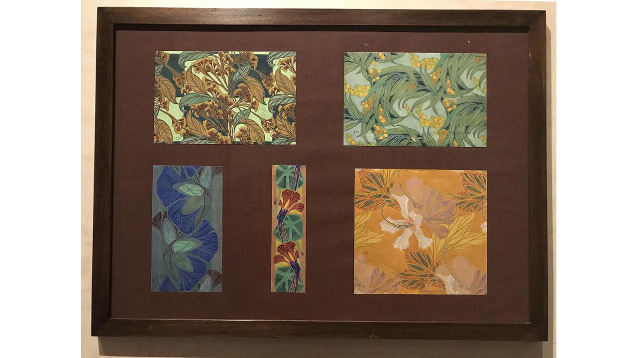Эдуар Бенедиктус. Пять проектов для обоев или текстиля. Карандаш, акварель, гуашь на веленевой бумаге. Начало ХХ века.