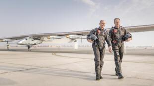 Bertrand Piccard et André Borschberg / Solar Impulse.
