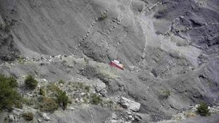 The site of the Germanwings A320 crash in the French Alps