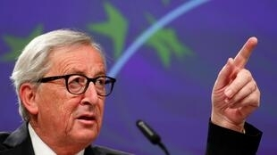 EU Commission President Juncker holds a news conference in Brussels