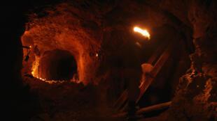 Une gallerie d'une mine de Potosi, en Bolivie.