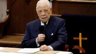 L'ancien président taïwanais Lee Teng-Hui, photographié le 10 mars 2018 à Taipei.