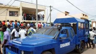 Une véhicule de la gendarmerie togolaise lors d'une manifestation à Lomé (photo d'illustration).