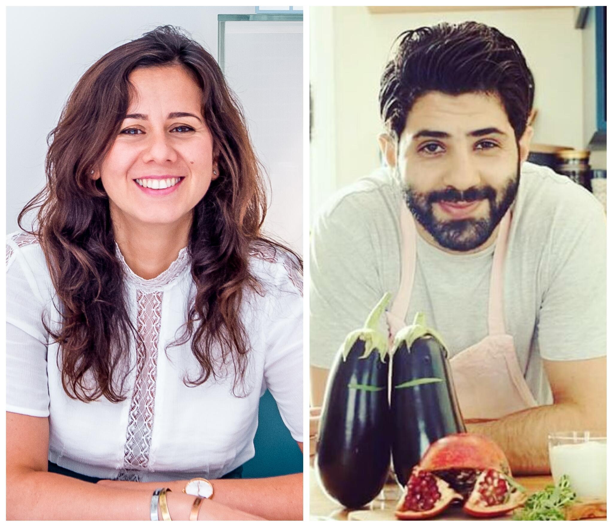 Myriam Sabet (L) and Chef Emad (R) explore recipes from the Levant and their childhood in Syria, served with their own twist