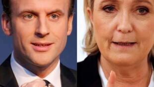 Marine Le Pen et Emanuel Macron