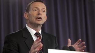 Le Premier ministre australien Tony Abbott.