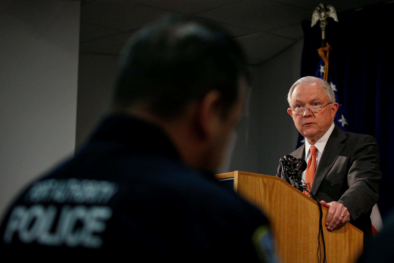 Le secrétaire américain à la Justice, Jeff Sessions, le 27 octobre 2017 à New York.