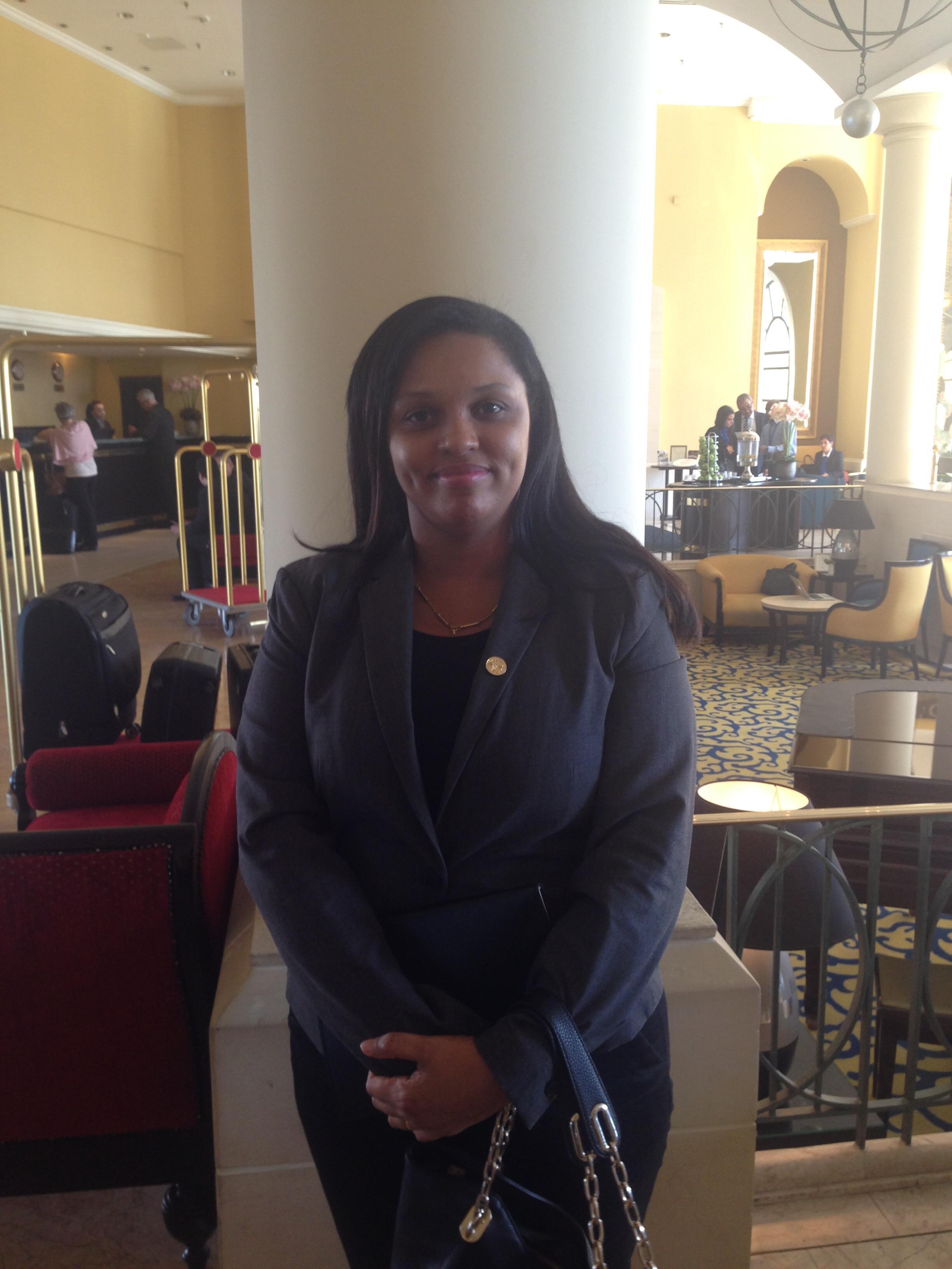 Susi Barbosa, secretária de Estado guineense da cooperação internacional e comunidades em La Valetta, Malta, 11 de Novembro de 2015