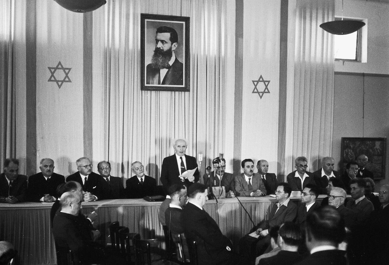 1948, déclaration d'indépendance de l'État israélien