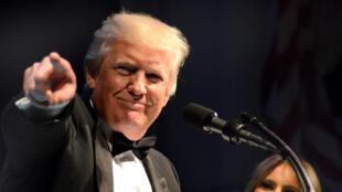 Le président américain Donald Trump, lors d'un gala de charité pour l'héritage d'Abraham Lincoln, à Washington, le 4 juin 2017.