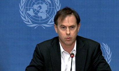 Le porte-parole de l'ONU, Ruppert Colville.