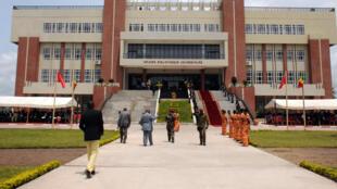 Vue de l'université de Brazzaville, au Congo.