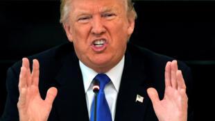 Donald Trump, el 19 de julio durante un almuerzo sobre el Obamacare con 49 senadores en la Casa Blanca.