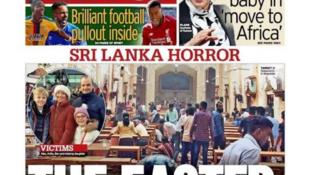 英國鏡報報道斯里蘭卡系列恐怖襲擊2019年4月22日