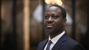 L'ex-leader rebelle ivoirien et ancien président de l'Assemblée nationale, Guillaume Soro, à Paris le 29 janvier 2020.