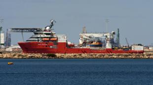 在澳洲亨德森暂停的海底建设者号2018年2月8日