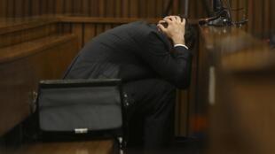 Oscar Pistorius durante audiência no dia 10 de março de 2014.