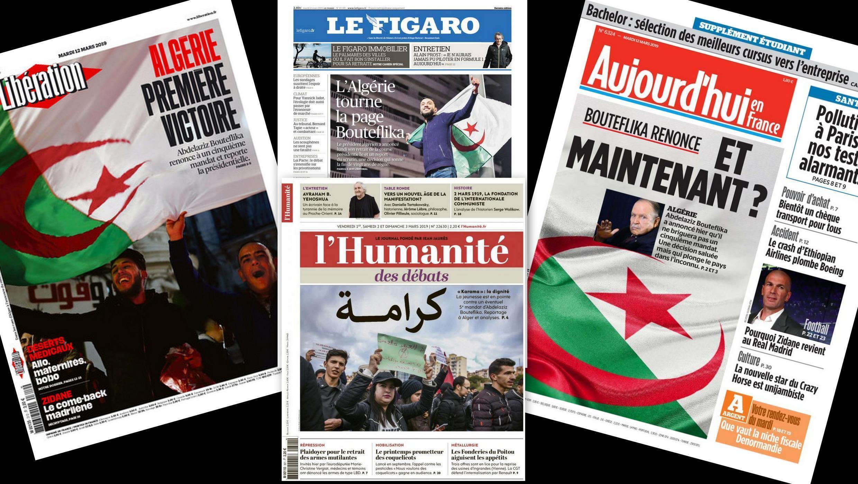A imprensa francesa desta terça-feira analisa a renúncia do presidente argelino de se candidatar a um 5° mandato e o adiamento das eleições na Argélia.