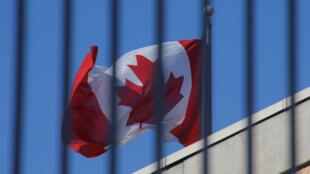 Cờ Canada trong khuôn viên tòa đại sứ Canada ở Bắc Kinh. Ảnh minh họa.