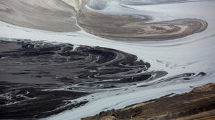 A tailings pond near the Syncrude tar sands operations near Fort McMurray, Alberta, Canada on September 17, 2014