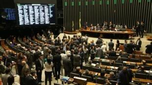 Plenário da Câmara dos Deputados no Brasil.