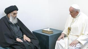 AP21065258719098  Papa Francisco e o ayatollah Ali al-Sistani
