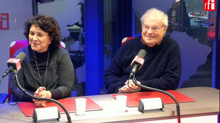 O músico Francis Hime e a produtora de música Olívia Hime