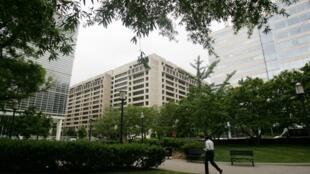 Sièges du FMI (c) et de la Banque mondiale (g) à Washington aux Etats-Unis.
