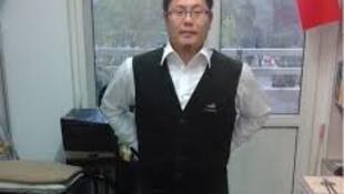 图为公开申请加入共产党的北京大学台湾留学生张立齐