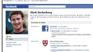 صفحه شخصی مارک زوکربرگ در فیس بوک